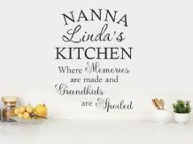 PERSONALISED Grandma/Nanna Kitchen Quote Modern Wall Art Sticker, Decal